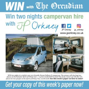 WIN two nights campervan hire and a Spirit of Orkney Tour