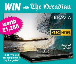Win a 55″ TV with The Orcadian