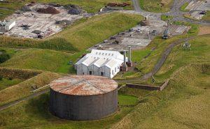 Scapa Flow Museum oil tank exhibits prepared for storage