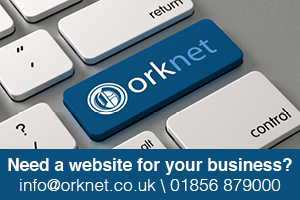 Orknet Website Advert