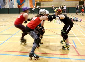 Roller derby players prepare for opening match