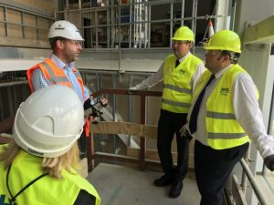 Shadow Health Secretary visits new hospital