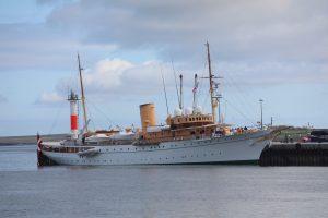Danish royal yacht alongside in Kirkwall