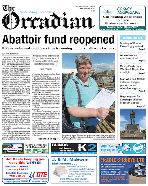 In this week's edition of The Orcadian - The Orcadian Online
