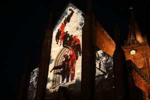 Cathedral walls bear witnesses to special armistice film