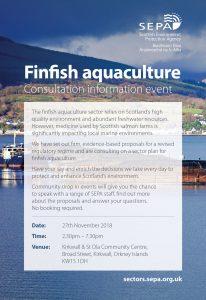 Finfish Aquaculture – Consultation Information Event