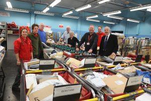 Council convener visits postal staff