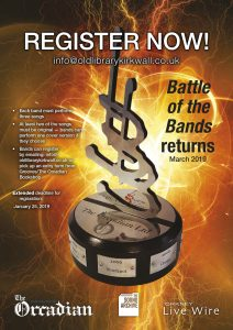 Just over a week left to enter Battle of the Bands