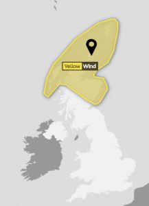 Yellow weather warning for Orkney