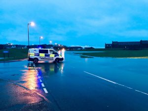 Heavy rain causes localised flooding