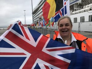 Flags welcome international visitors