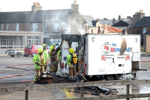 Fire-hit fast food van owner thanks Orkney community