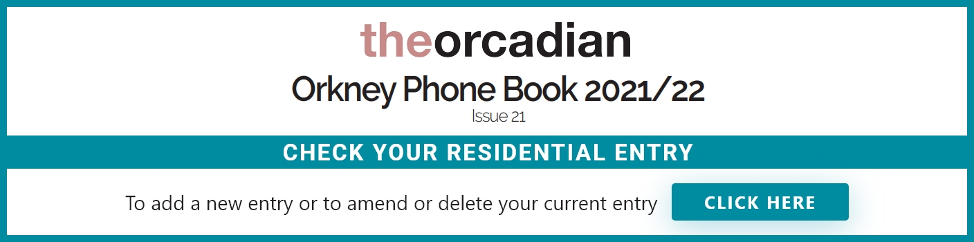 Orkney Phone Book 2021/22
