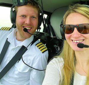 Couple take flight home to remember