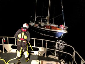 Lifeboat launched to assist yacht off Westray